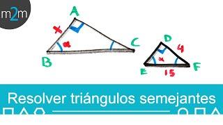 Como resolver TRIÁNGULOS SEMEJANTES │Teorema de Pitágoras