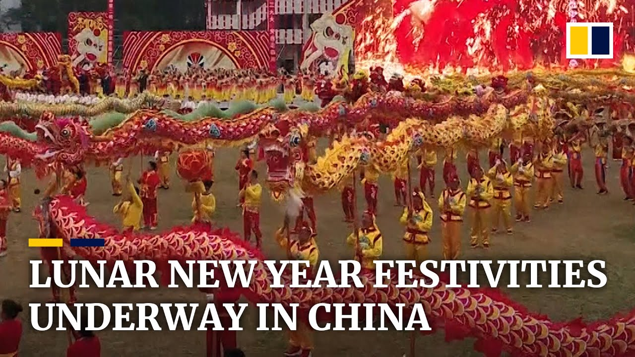 Festive Mood And Mass Movement Across China Ahead Of Lunar New Year Youtube
