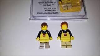 Lego Store Employee Minifigure Compared to Lego Kidsfest Employee Minifigure youtube