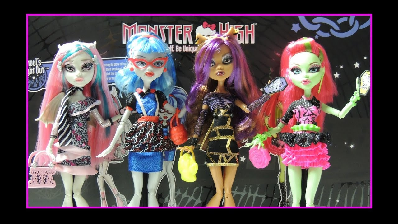 Monster High Ghouls Night Out 4 Pack - YouTube
