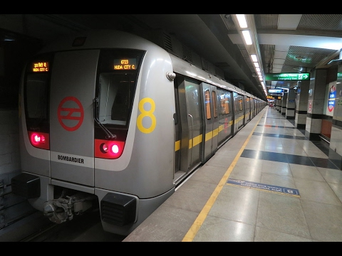 On Board Delhi Metro | Yellow Line | Samaypur Badli - HUDA City Center