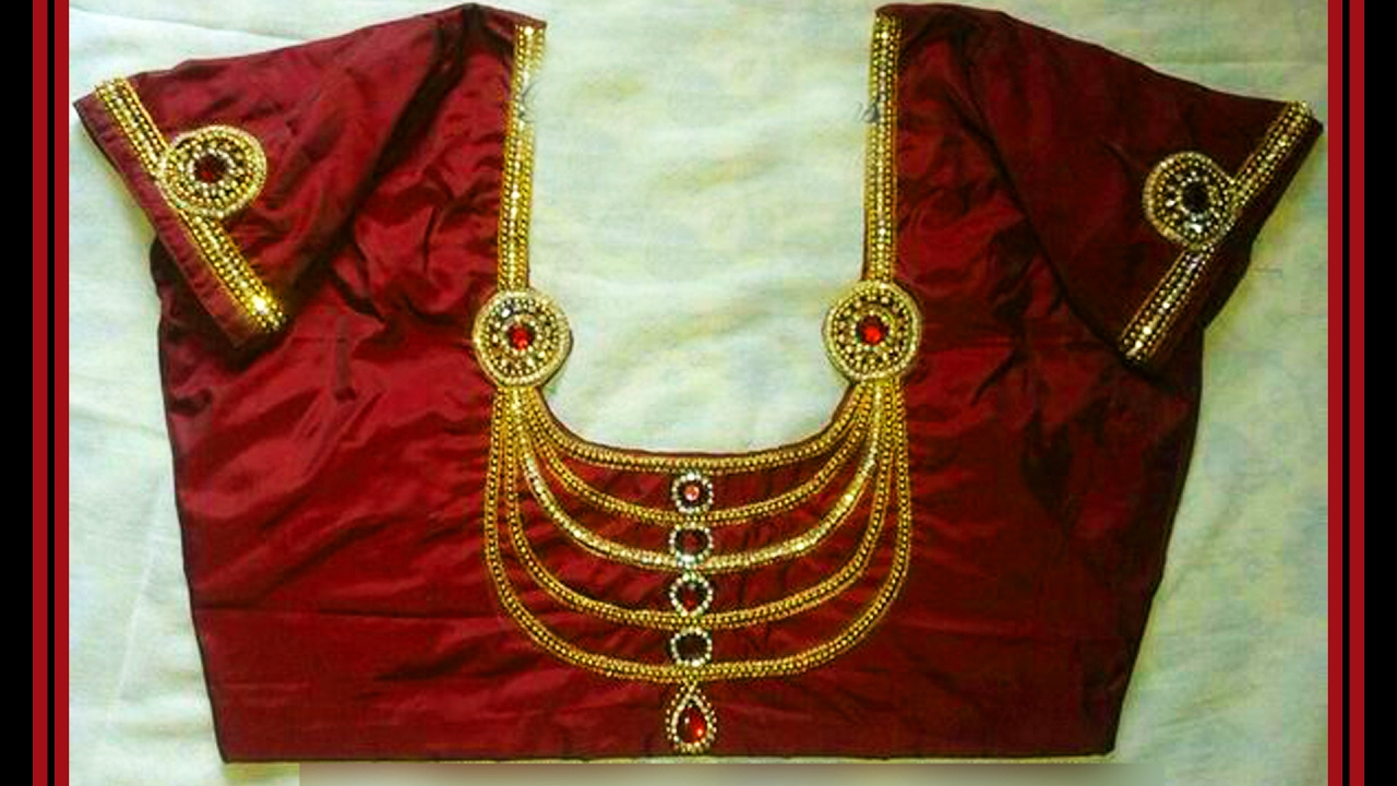 Necklace Neck Blouse Designs - YouTube