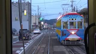4k cab view - Toyohashi Railroad Tram Line Ekimae to Undōkōenmae, aichi pref, Japan
