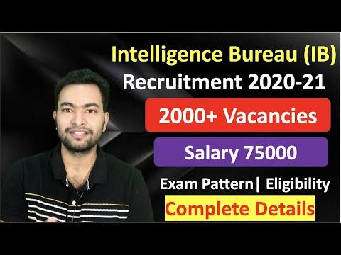 Intelligence Bureau IB Recruitment 2020 21 ACIO| 2000 Vacancies| Complete Details
