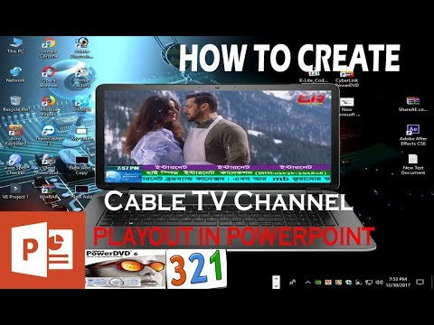 How to Create Local Cable TV Channel Playout || In PowerPoint || (2018) By Tech Romi
