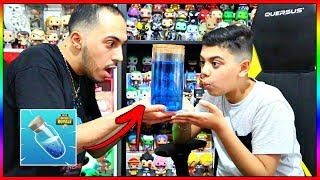 ON FABRIQUE LA MINI POTION DE BOUCLIER FORTNITE AVEC MOMO !