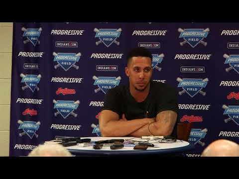 Brantley on his game-winning hit against Duffy in the 1st inning