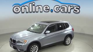 C99014JA Used 2013 BMW X3 xDrive28i AWD SUV Blue Test Drive, Review, For Sale