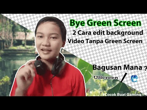 🔴Tutorial How to Change Video Background Without Green Screen and Application.