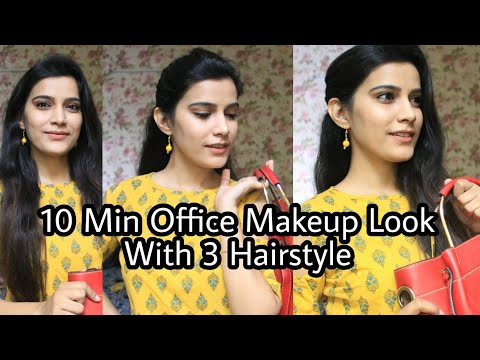 How to : 10 Min Office Makeup for indian