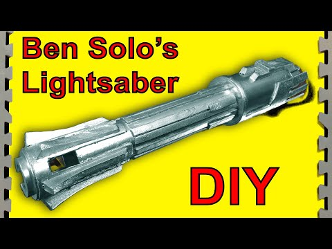 How To Make Ben Solo's Jedi Lightsaber (Star Wars DIY)