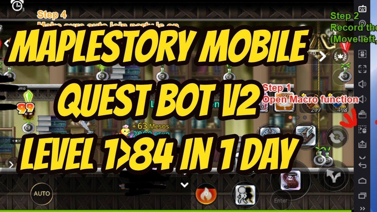 Maplestory Mobile Quest Bot v2 NEW - Maplestory M