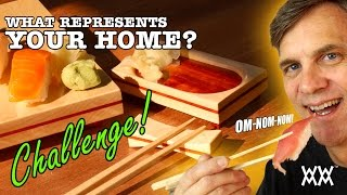 Make A Wooden Sushi Serving Set. Also A Woodworking Challenge! Ft. Alex Harris