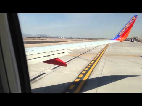 Southwest Airlines 737 700 fast takeoff from Phoenix Sky Harbor International Airport