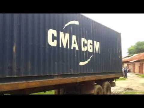 When one of our Shipping conteners arrived in Kinsaha/Congo