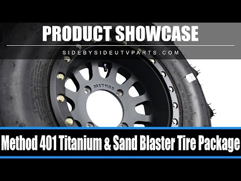 Side by Side  Product case  Titanium Method Wheel & Sand Blaster Tire Package