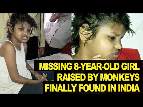 8-Year-Old Girl Found Raised By MONKEYS In Indian Jungle