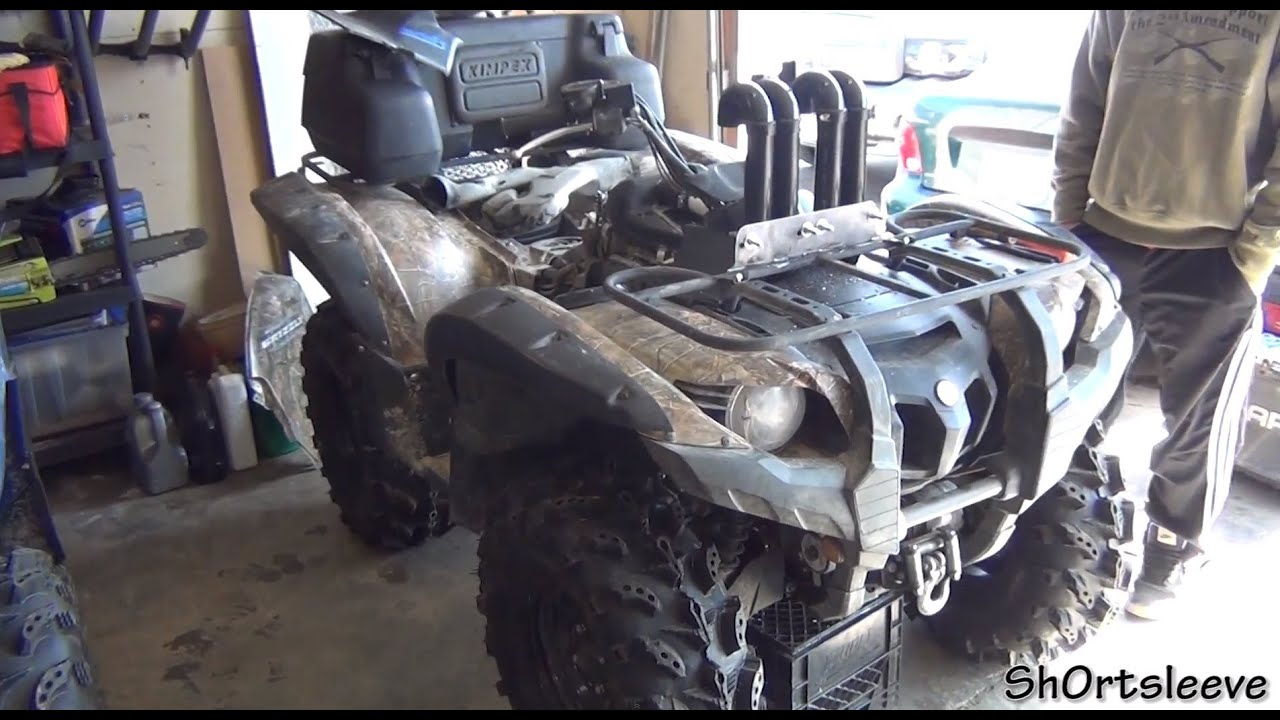 Yamaha Grizzly 700 >> Grizzly 700 Snorkel / Upgrade!!! - YouTube