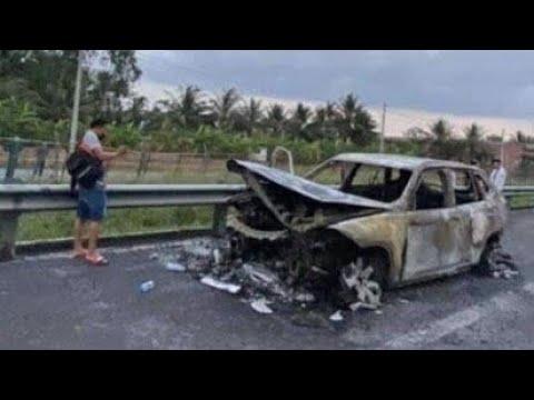 🔥 Xe Tiền Tỷ Vinfast Lux SA Cháy Trên Đường Cao Tốc Trung Lương