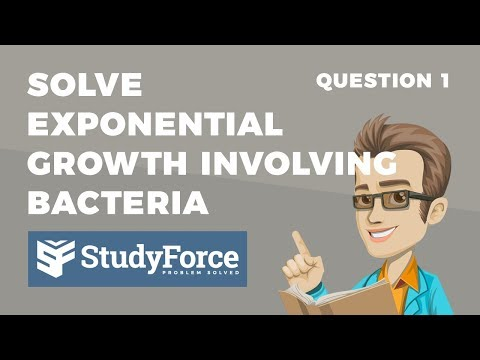 📚 How to solve an exponential growth problem involving bacterial growth (Question 1)