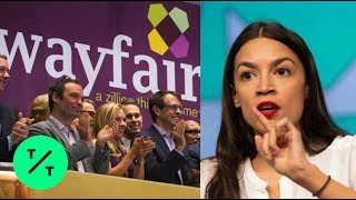 AOC Backs Wayfair Workers' Plan to Walk Out Over Border Camp Sales