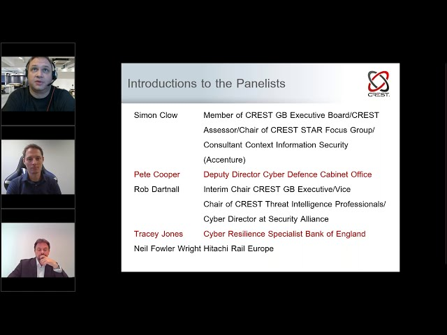 The importance of Intelligence Led Penetration Testing frameworks | CREST Panel Session