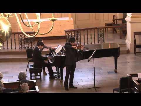 César Franck Sonata for Violin and Piano in A major | Jack Wong, Ariel Lanyi