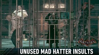 AUDIO; Batman; Arkham Knight; Unused Mad Hatter Comments