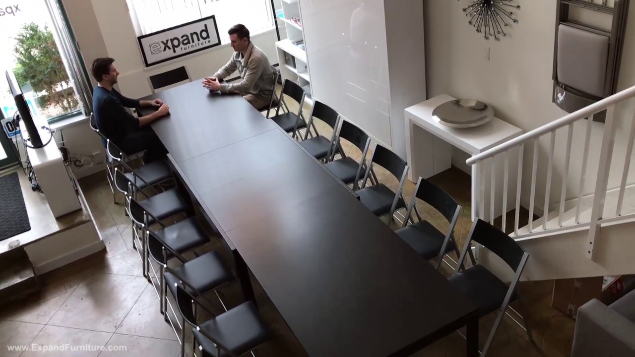 Demo Of The Juggernaut Extending Table Seating 22 People Youtube