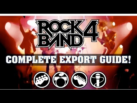 Rock Band 4: Complete Export & Import Guide For Past Games! How To Import Songs
