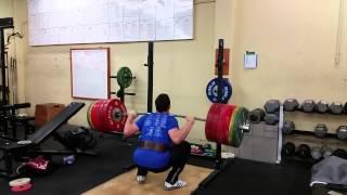 275kg/606lb Olympic Squat