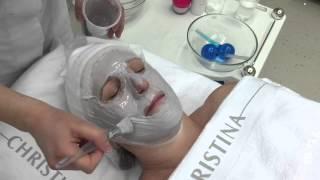 Альгинатная маска Wish от Christina (нанесение с помощью бинтовой маски)(Тренер-косметолог Учебного центра