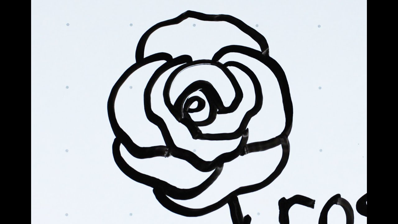 21: Kids' Tutorial  How To Draw A Flower Rose (c) In 2 Minutes  Simple,  Easy & Fun  Vivi Santoso
