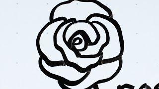rose draw easy simple flower tutorial fun