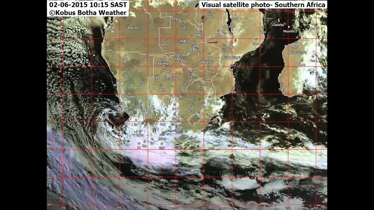 Weather animation Southern Africa