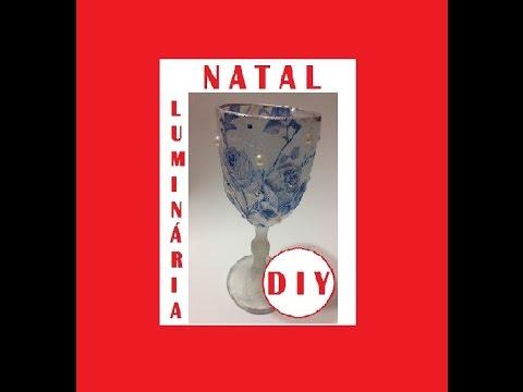 Luminária Natalina, como fazer? - DIY - (Christmas Lamp)