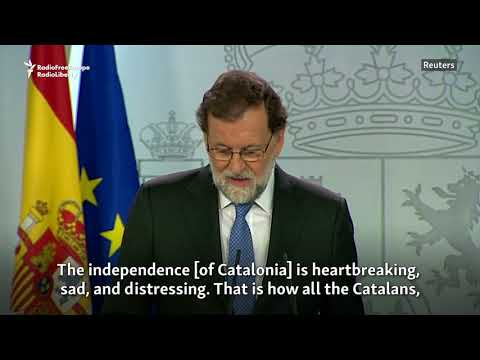 Spain's Rajoy Dissolves Catalonia's Government, Calls New Regional Elections