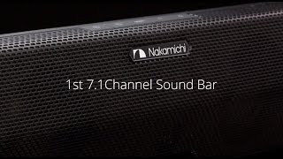 nakamichi shockwafe pro 7 1 reference 7 1ch surround sound bar