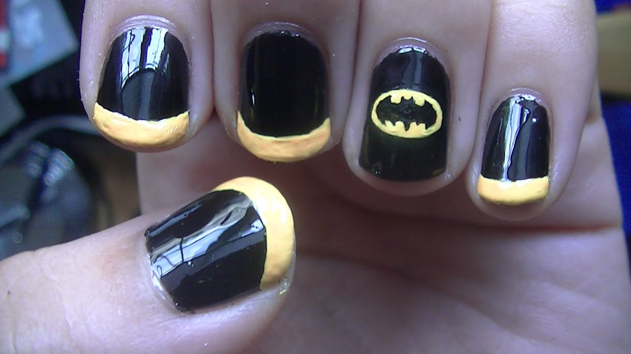 Batman Nail Art Tutorial Youtube