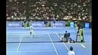 Pete Sampras great shots selection against John McEnroe (Philadelphia 1991 SF)