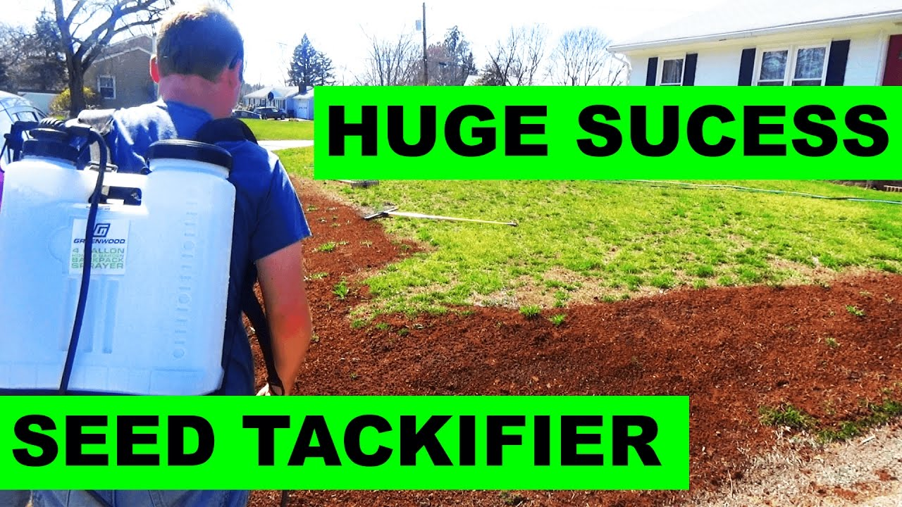 Using Tackifier To Seed On A Hill