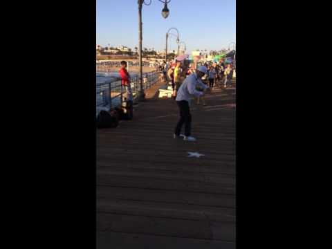 Santa Monica pier report dancer