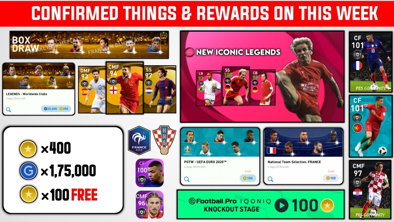 7 NEW THINGS & REWARDS COMING ON THIS MONDAY & THURSDAY 🤩 |  PES 2021