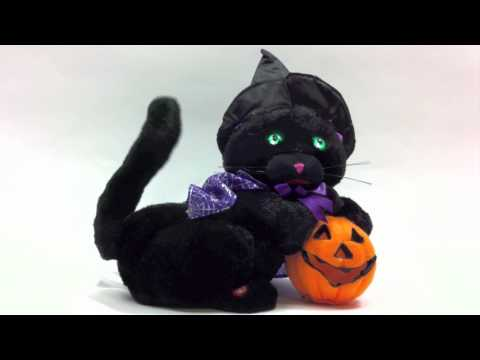 Halloween Animated Musical Singing Black Cat, 18041