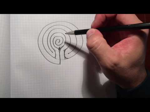 How to Draw Labyrinths from a Spiral