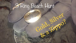 Metal Detecting San Diego Beaches- It's just another 3 ringer of a hunt & a Zippo?