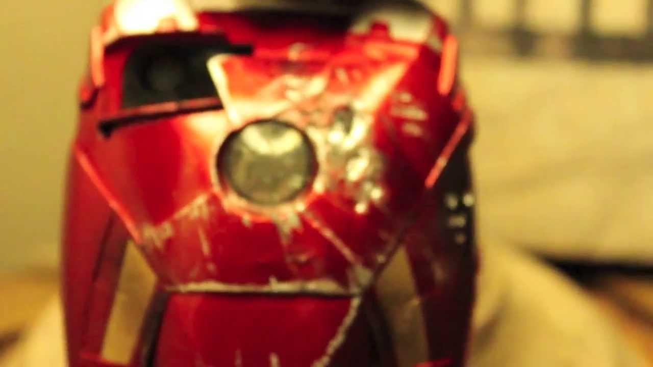 IRON MAN: iPhone 5 Battle Damaged Custom Mark 7 LED Light Up Case by BRANDO Review  YouTube