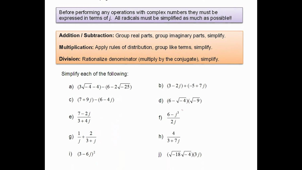 Complex Numbers Rectangular form - YouTube