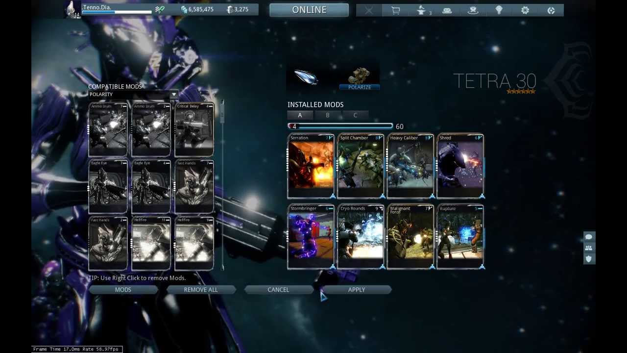 Warframe : Zenith - Critical Build (Secondary - Semi-Auto ...