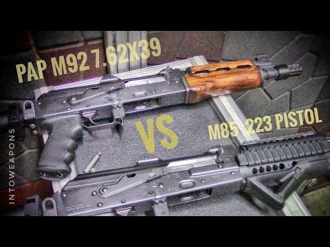 M92 vs. M85:  PAP AK Pistols at the Range